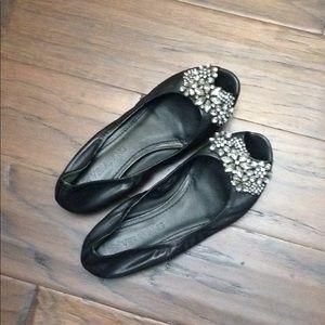 Vera Wang Jeweled Ballet Flats